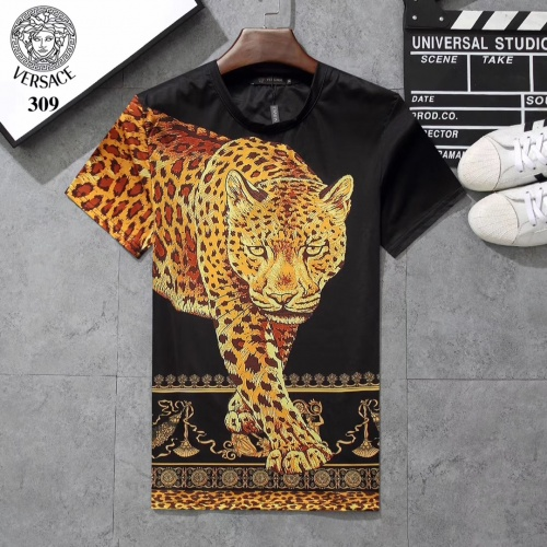 Versace T-Shirts Short Sleeved For Men #854804 $25.00 USD, Wholesale Replica Versace T-Shirts