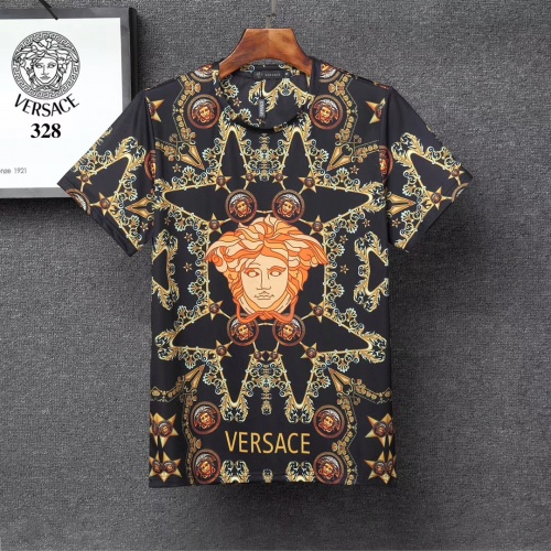 Versace T-Shirts Short Sleeved For Men #854855 $25.00 USD, Wholesale Replica Versace T-Shirts