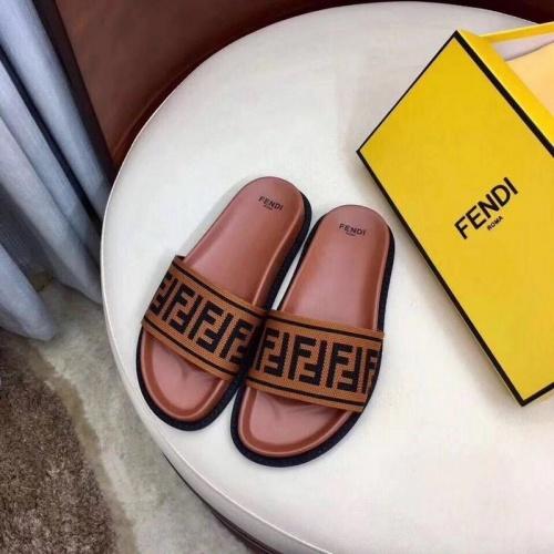Fendi Slippers For Men #855602 $48.00 USD, Wholesale Replica Fendi Slippers