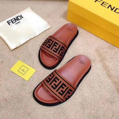 Replica Fendi Slippers For Men #855602 $48.00 USD for Wholesale