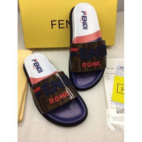 Replica Fendi Slippers For Women #855606 $64.00 USD for Wholesale