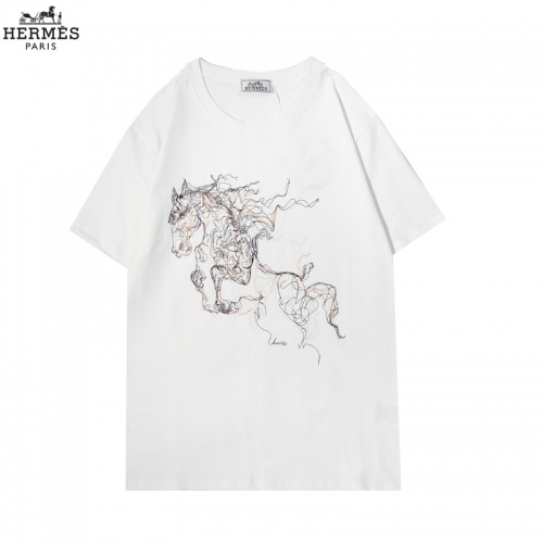 Hermes T-Shirts Short Sleeved For Men #855876