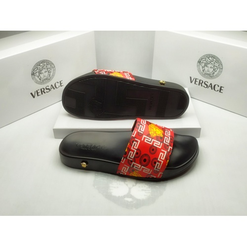 Replica Versace Slippers For Men #855883 $40.00 USD for Wholesale