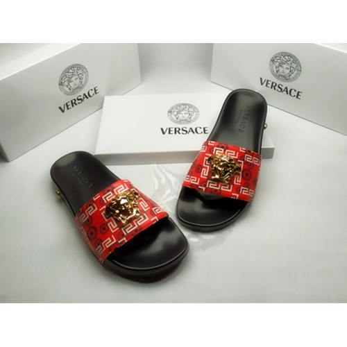Replica Versace Slippers For Men #855884 $40.00 USD for Wholesale