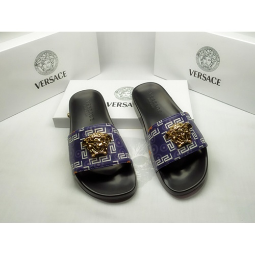 Versace Slippers For Men #855885 $40.00, Wholesale Replica Versace Slippers