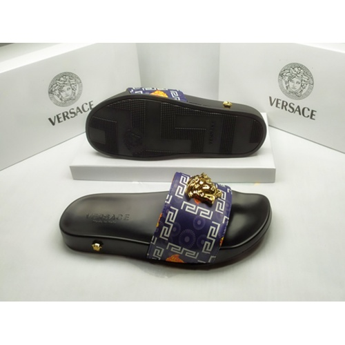 Replica Versace Slippers For Men #855885 $40.00 USD for Wholesale