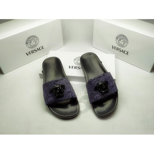 Versace Slippers For Men #855886 $40.00, Wholesale Replica Versace Slippers