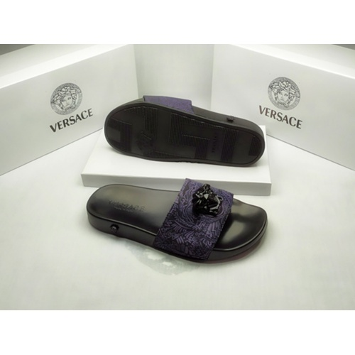 Replica Versace Slippers For Men #855886 $40.00 USD for Wholesale