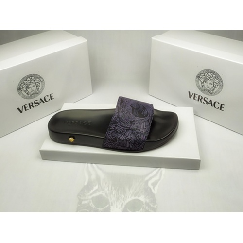 Replica Versace Slippers For Men #855887 $40.00 USD for Wholesale