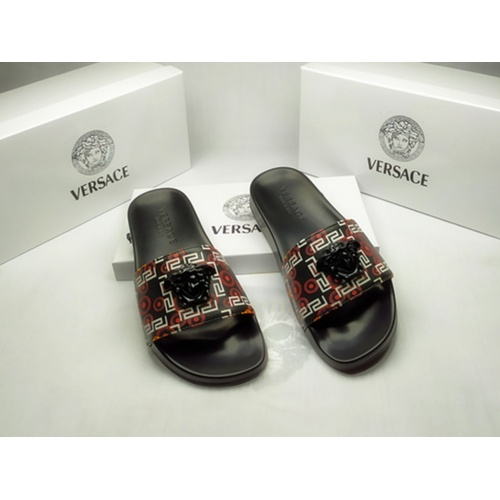 Versace Slippers For Men #855888 $40.00, Wholesale Replica Versace Slippers