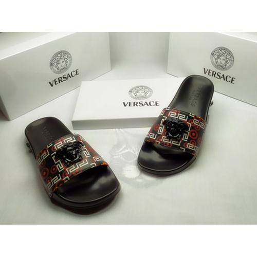 Replica Versace Slippers For Men #855888 $40.00 USD for Wholesale