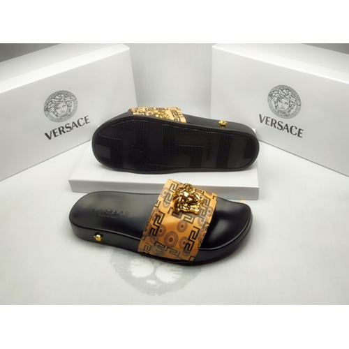 Replica Versace Slippers For Men #855889 $40.00 USD for Wholesale