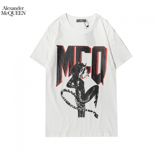 Alexander McQueen T-shirts Short Sleeved For Men #855928