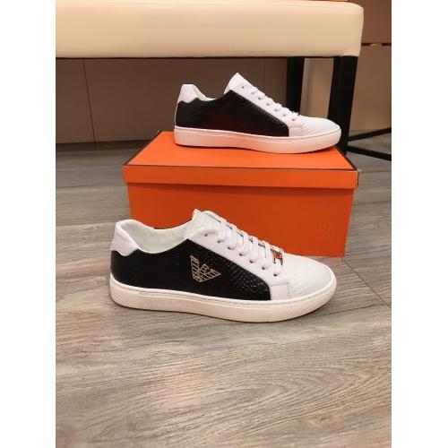 Armani Casual Shoes For Men #855935 $80.00 USD, Wholesale Replica Armani Casual Shoes