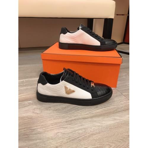 Armani Casual Shoes For Men #855936 $80.00 USD, Wholesale Replica Armani Casual Shoes
