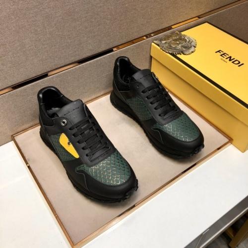 Replica Fendi Casual Shoes For Men #855962 $92.00 USD for Wholesale