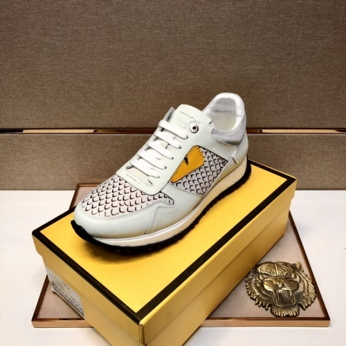 Replica Fendi Casual Shoes For Men #855963 $92.00 USD for Wholesale