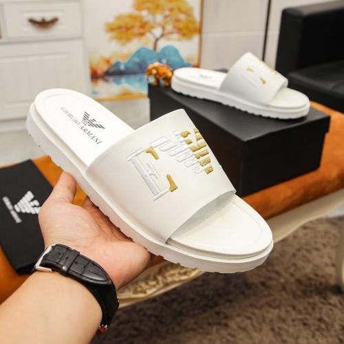 Armani Slippers For Men #855965 $52.00 USD, Wholesale Replica Armani Slippers
