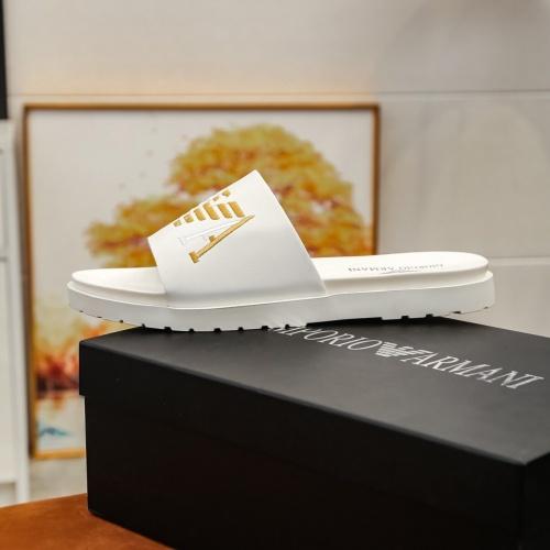 Replica Armani Slippers For Men #855965 $52.00 USD for Wholesale