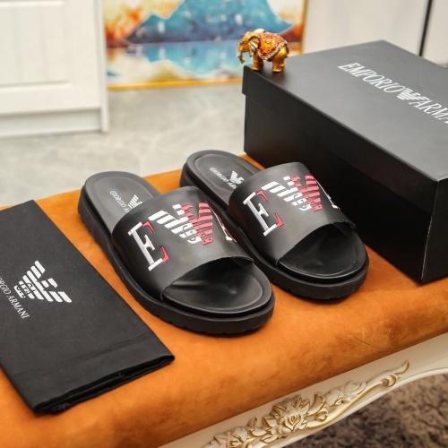 Replica Armani Slippers For Men #855966 $52.00 USD for Wholesale