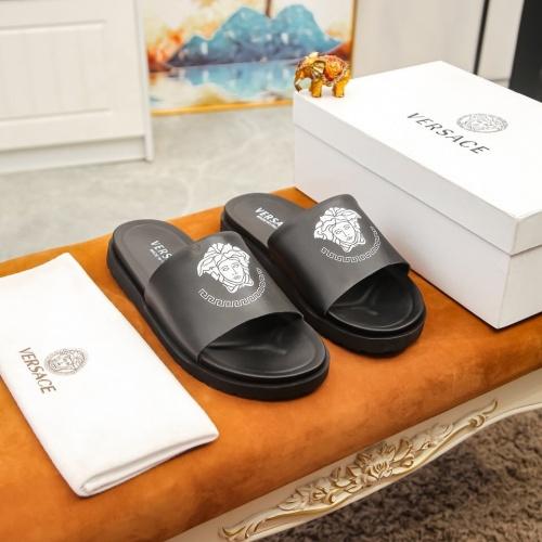 Versace Slippers For Men #855969 $48.00, Wholesale Replica Versace Slippers