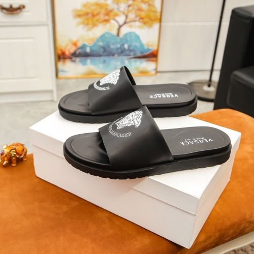 Replica Versace Slippers For Men #855969 $48.00 USD for Wholesale