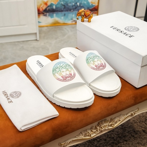 Versace Slippers For Men #855971 $48.00, Wholesale Replica Versace Slippers