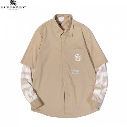 Burberry Shirts Long Sleeved For Men #856259 $45.00 USD, Wholesale Replica Burberry Shirts
