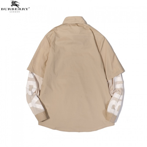 Replica Burberry Shirts Long Sleeved For Men #856259 $45.00 USD for Wholesale