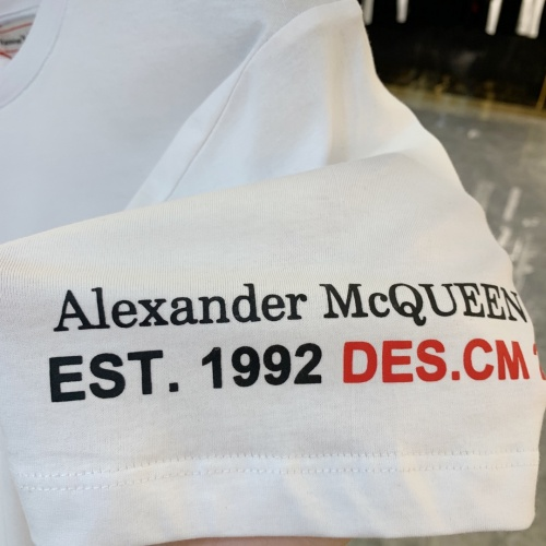 Replica Alexander McQueen T-shirts Short Sleeved For Men #856429 $41.00 USD for Wholesale