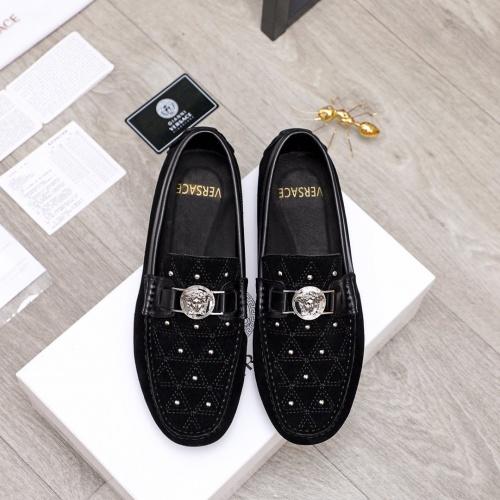 Versace Casual Shoes For Men #856506 $68.00, Wholesale Replica Versace Casual Shoes