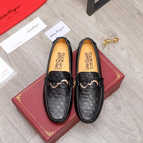 Replica Ferragamo Leather Shoes For Men #856514 $68.00 USD for Wholesale