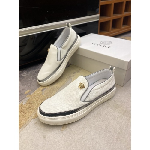 Versace Casual Shoes For Men #856516 $68.00, Wholesale Replica Versace Casual Shoes