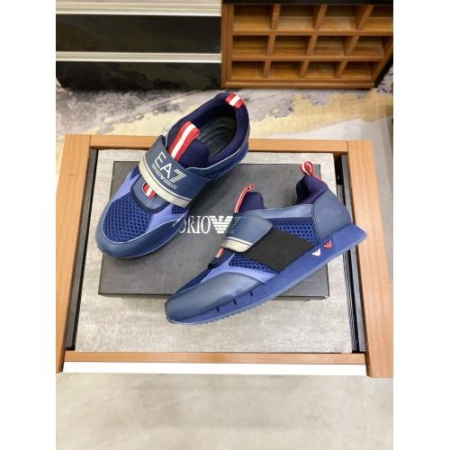 Replica Armani Casual Shoes For Men #856522 $80.00 USD for Wholesale
