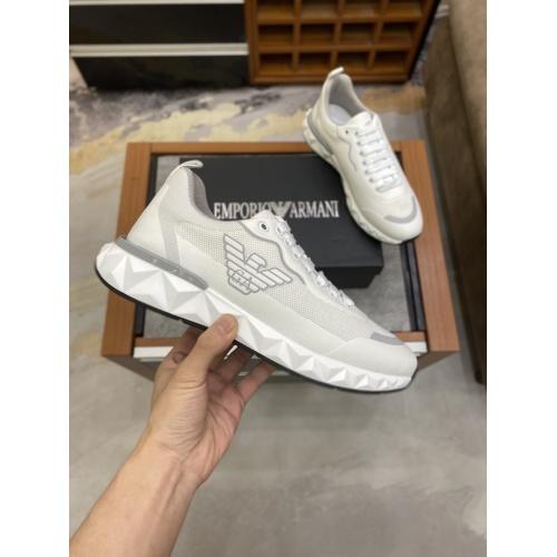 Armani Casual Shoes For Men #856526 $80.00 USD, Wholesale Replica Armani Casual Shoes