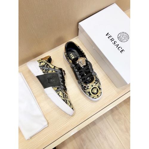 Versace Casual Shoes For Men #856542 $76.00, Wholesale Replica Versace Casual Shoes