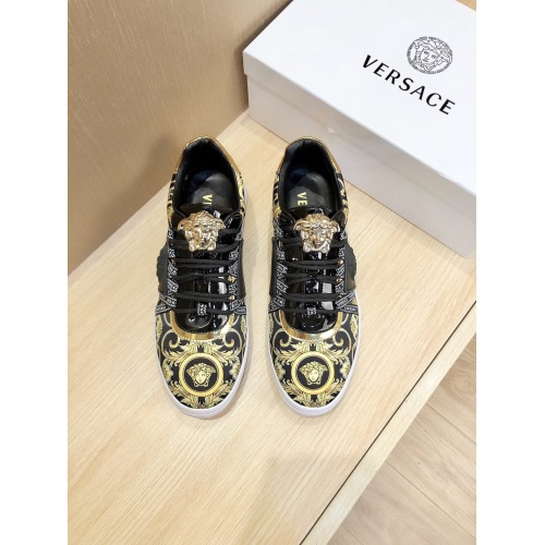 Replica Versace Casual Shoes For Men #856542 $76.00 USD for Wholesale
