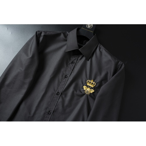 Replica Dolce & Gabbana D&G Shirts Long Sleeved For Men #856688 $38.00 USD for Wholesale