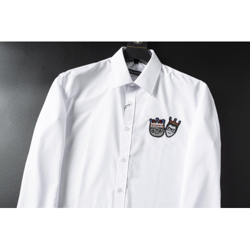 Replica Dolce & Gabbana D&G Shirts Long Sleeved For Men #856690 $38.00 USD for Wholesale