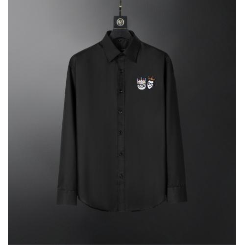 Dolce & Gabbana D&G Shirts Long Sleeved For Men #856691 $38.00 USD, Wholesale Replica Dolce & Gabbana D&G Shirts