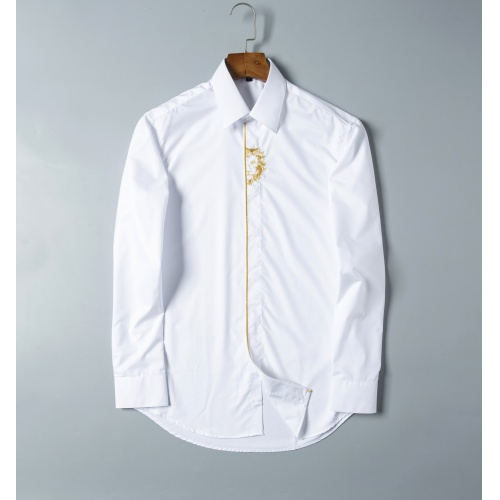 Versace Shirts Long Sleeved For Men #856696