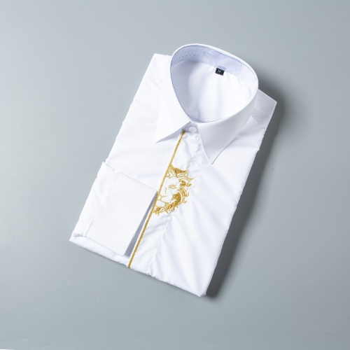 Replica Versace Shirts Long Sleeved For Men #856696 $38.00 USD for Wholesale