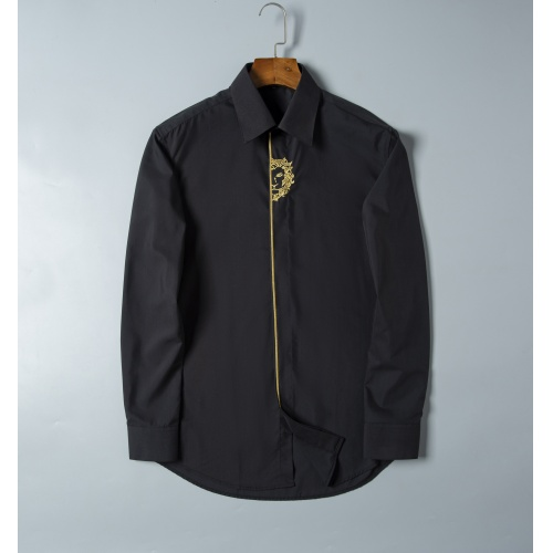 Versace Shirts Long Sleeved For Men #856697 $38.00 USD, Wholesale Replica Versace Shirts