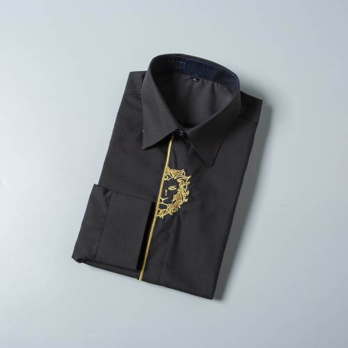 Replica Versace Shirts Long Sleeved For Men #856697 $38.00 USD for Wholesale