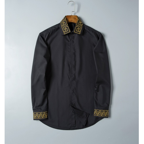 Versace Shirts Long Sleeved For Men #856698 $38.00 USD, Wholesale Replica Versace Shirts