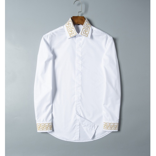 Versace Shirts Long Sleeved For Men #856699 $38.00 USD, Wholesale Replica Versace Shirts