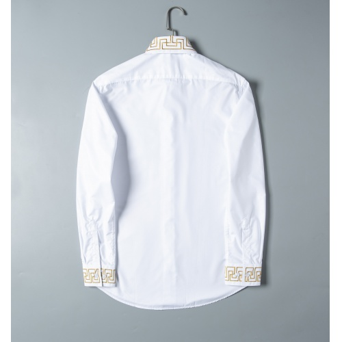 Replica Versace Shirts Long Sleeved For Men #856699 $38.00 USD for Wholesale