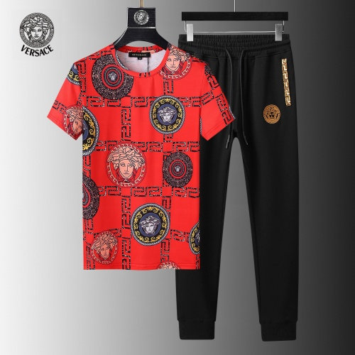 Versace Tracksuits Short Sleeved For Men #858080
