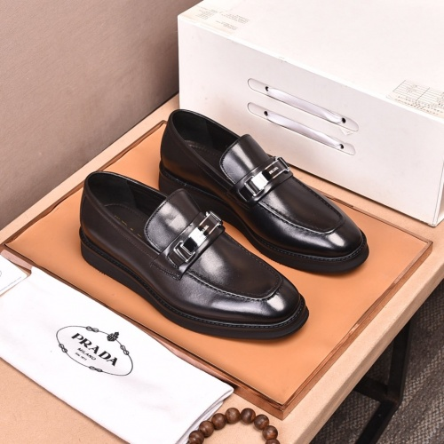 Prada Leather Shoes For Men #858406