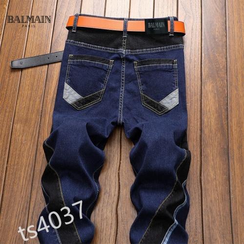 Replica Balmain Jeans For Men #858438 $48.00 USD for Wholesale